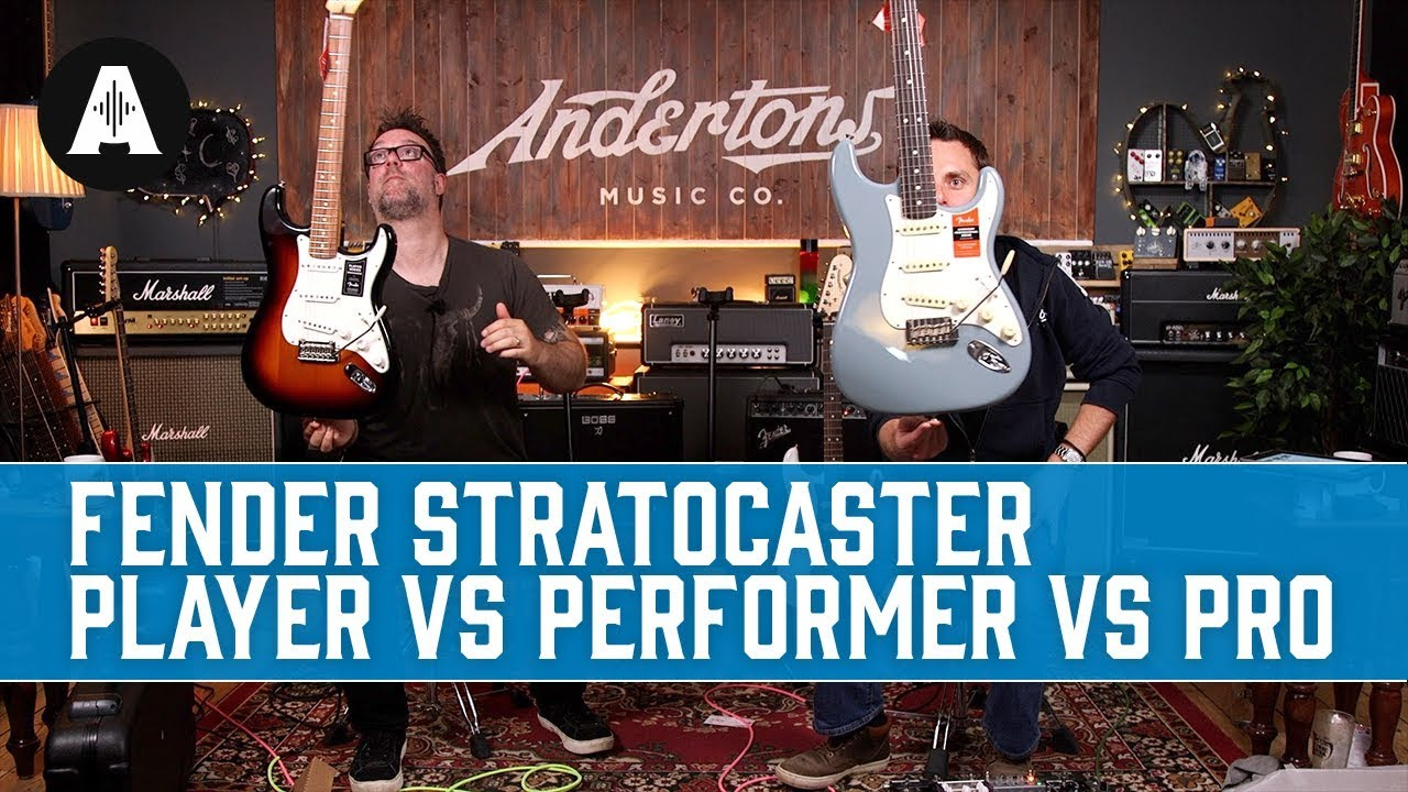 655368b4d700 Fender Stratocaster: Player vs Performer vs Professional - What are the  differences?