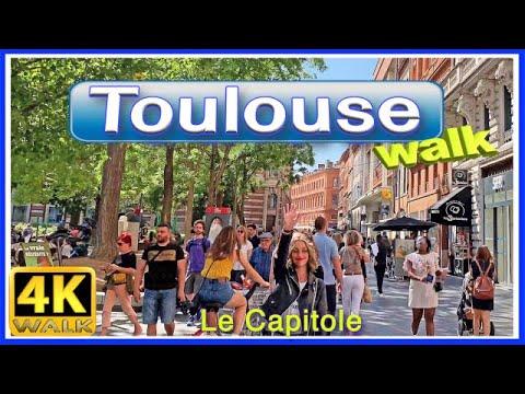【4K】WALK TOULOUSE Le CAPITOLE France 4k video VIRTUAL WALK