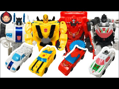 Transformers Toys Cyberverse Power of the Spark 1 Step Changers Bumblebee Jazz Hot Rod Wheeljack