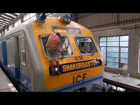 Indian Railways' First  Solar Powered DEMU train with Six Trailer Coaches