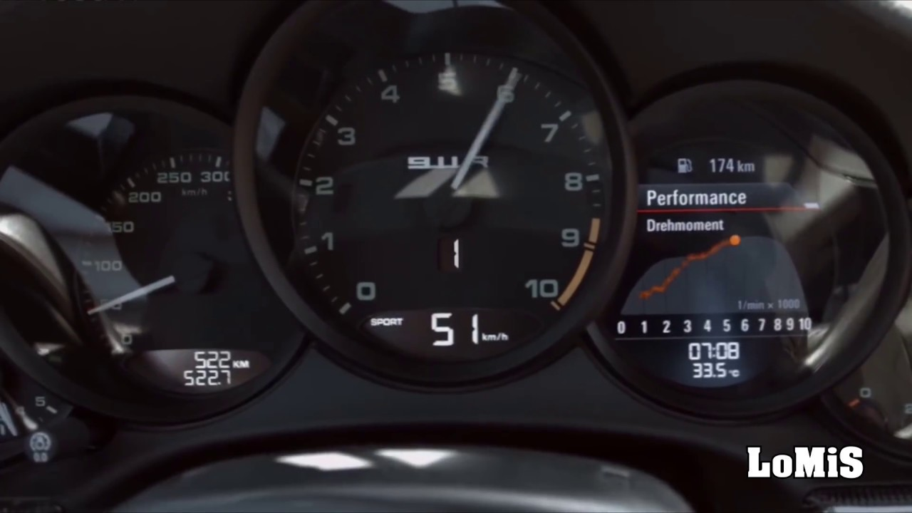 The New 911 R Launch Control Acceleration Sound 0 100 Km H