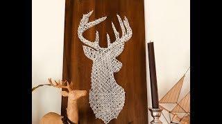 Tuto: String Art Cerf