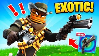 Finding *EXOTIC* NIGHT HAWK Revolver in Fortnite!