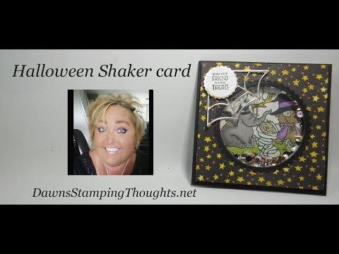 Halloween Shaker card