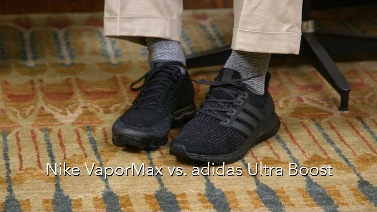 d8e87a6a01213 adidas Ultra Boost vs. Nike VaporMax - YouTube