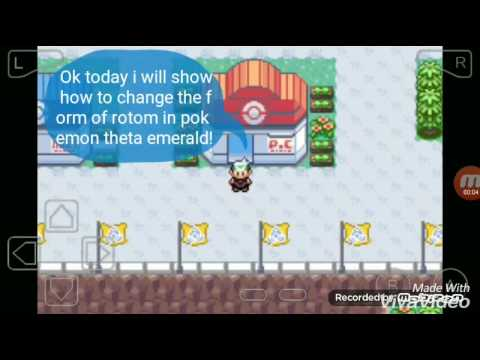 How to change the form of rotom in pokemon theta emerald!