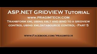 Using XSLT transform with XMLDataSourceControl   Part 5