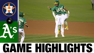 Marcus Semien's walk-off single leads A's | Astros-A's Game Highlights 8/7/20
