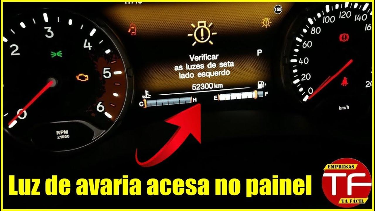 Luz de avaria ou anomalia no painel do carro acusando ...