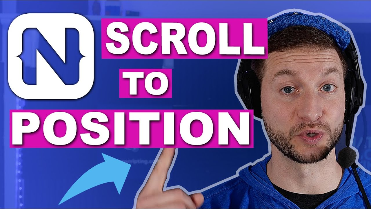 Scroll to Relative Position or ID in NativeScript Tutorial