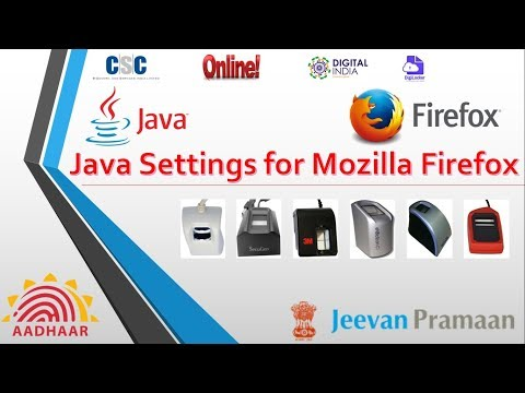 Java Setting in Mozilla Firefox for E-Kyc work with biometric device morpho mantra cogent starteck