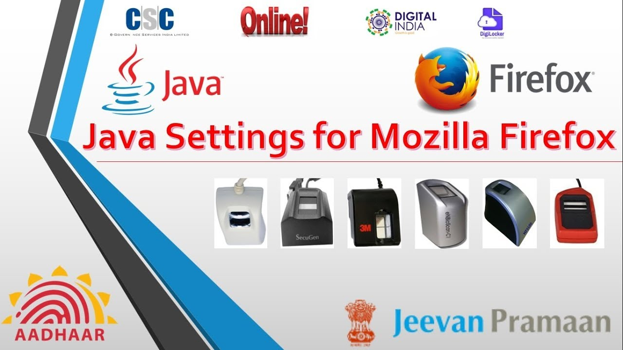 Java Setting In Mozilla Firefox For E Kyc Work With Biometric Device
