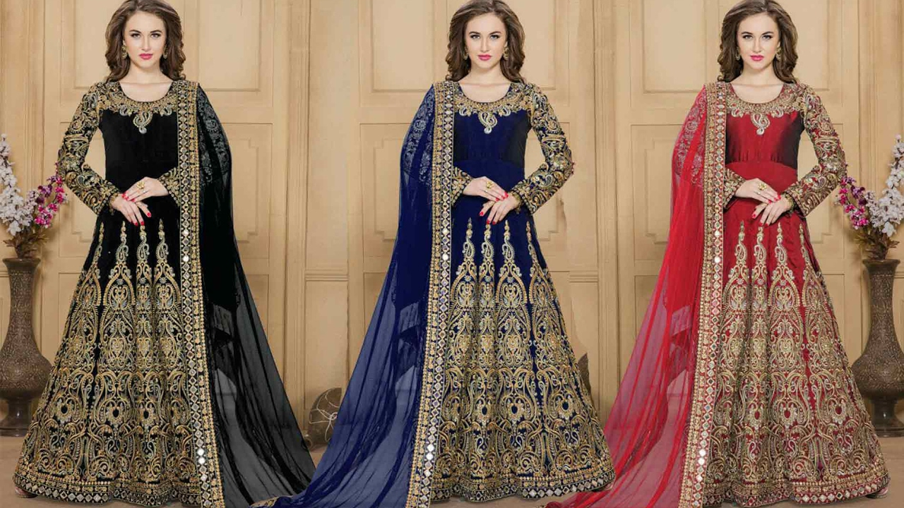 7f55ecad07b Party Wear Anarkali Suits Designs