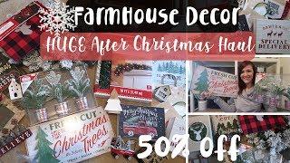 Huge After Christmas Haul | Farmhouse Christmas Decor | Walmart, Meijer,  Kohls and Target Haul