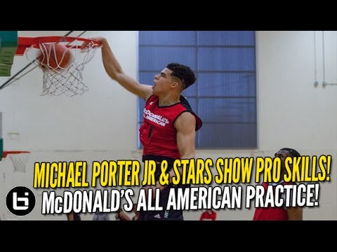 Michael Porter Jr & HS Stars Show Pro Skills at McDonald