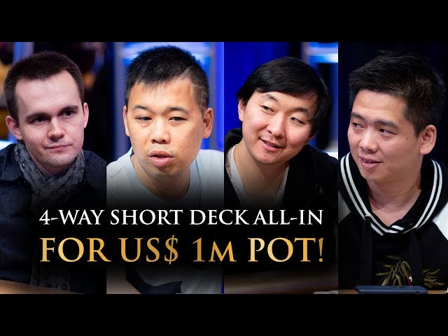 4-Way All-In for US$ 1m Short Deck Pot! | Triton Hold'em Jeju Cash Game