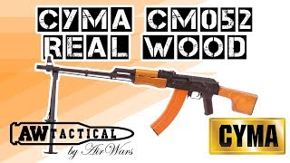 Страйкбольный ПУЛЕМЕТ CYMA CM052 REAL WOOD