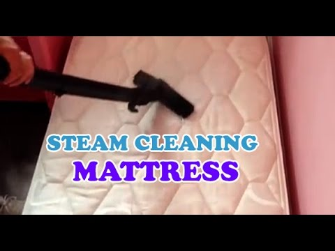 How to clean and sanitise a mattress with steam - YouTube