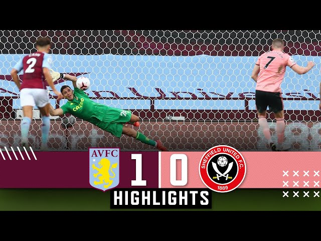 Aston Villa 1-0 Sheffield United | Premier League highlights | Egan red card & Martinez penalty save