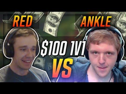 REDMERCY VS ANKLESPANKIN!! | $100 1v1 SHOWDOWN!! - League of Legends