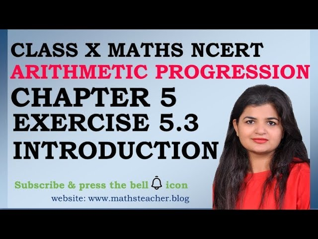 Chapter 5 Arithmetic Progression Ex 5.3 Introduction class 10 Maths