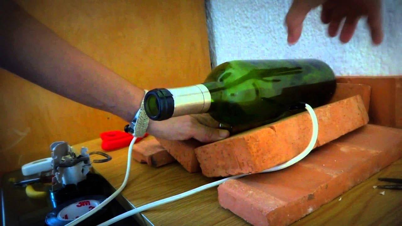 Cortador de botella casero youtube for Cortador de vidrio
