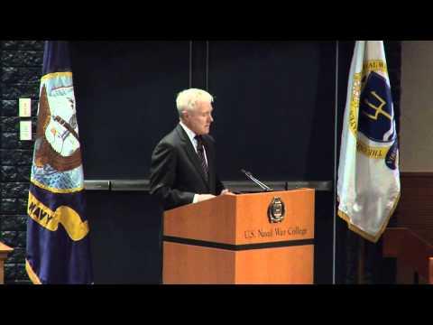 Secretary of the Navy (SECNAV) Ray Mabus addresses the U.S. Naval War College.