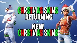 *NEW* Fortnite CHRISTMAS SKINS RETURNING IN 2018! NEW CHRISTMAS SKINS COMING TO FORTNITE! (SEASON 7)