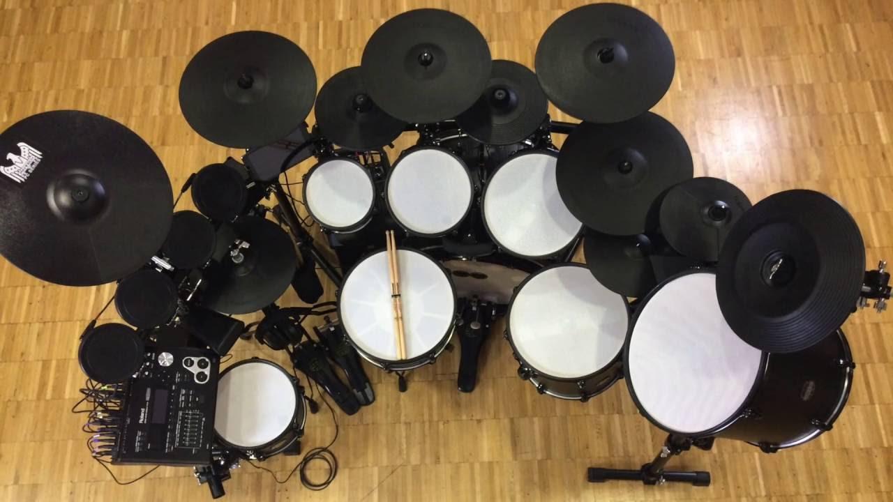 d336a676a4fb BlackBird custom electronic drum set - YouTube