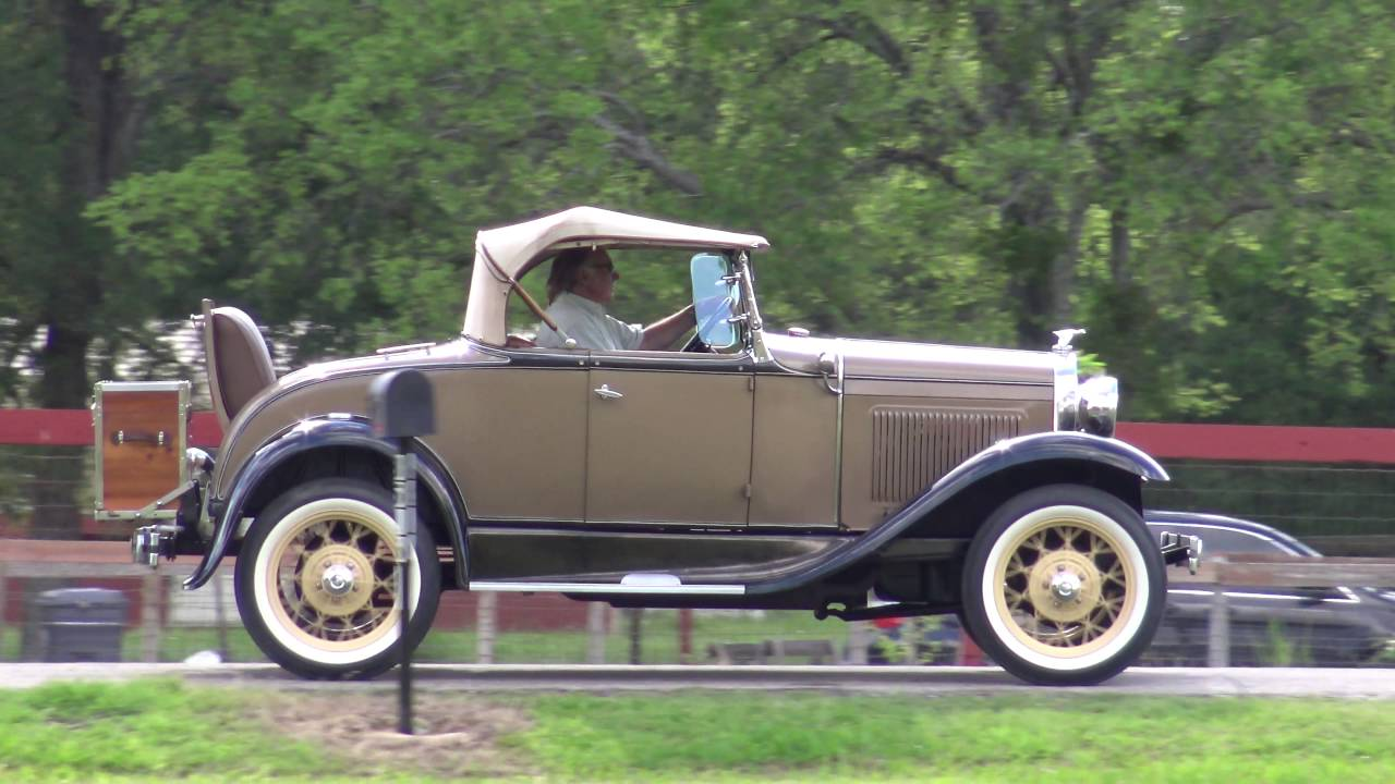1931 Ford Model A Deluxe Rumbleseat Roadster 4K Ultra HD vintage ...