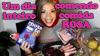 Download lagu UM DIA INTEIRO COMENDO COMIDA ROSA by Ashley