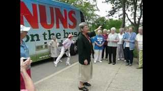 Nuns on the Bus visit IHM Motherhouse, Monroe