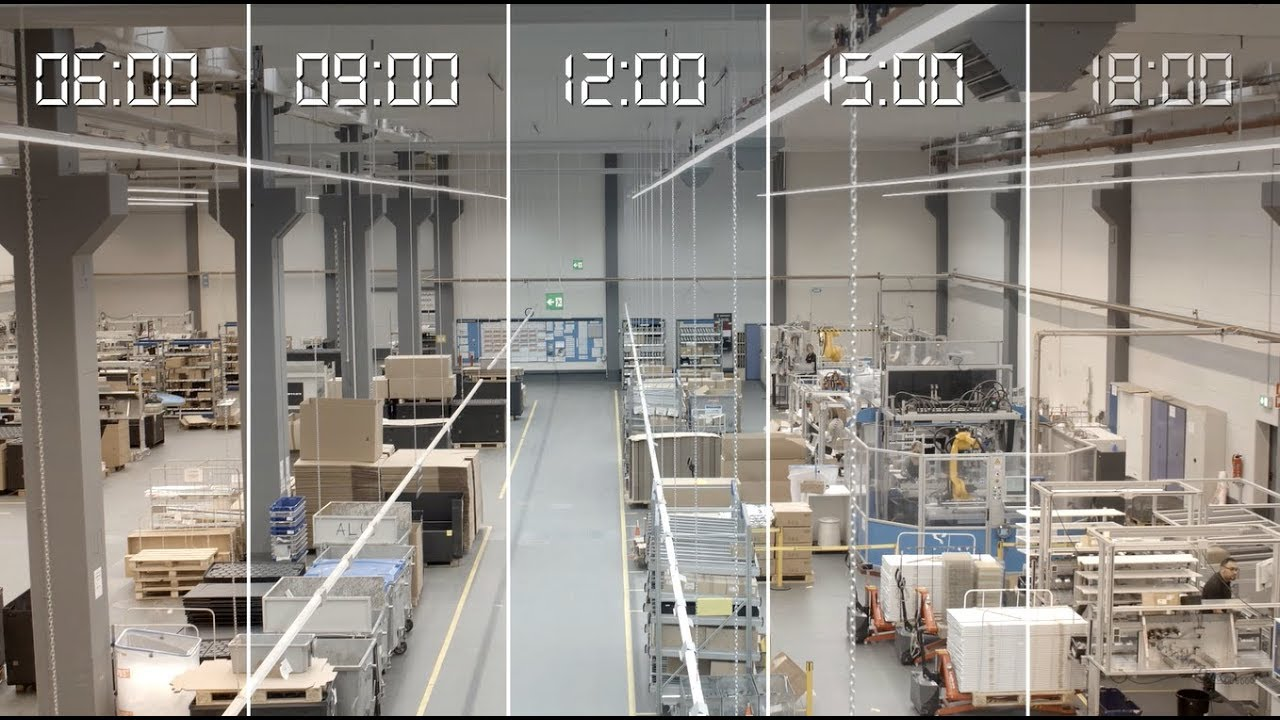 Trilux Human Centric Lighting Hcl Voor De Industrie Youtube - Led Verlichting Productiehal