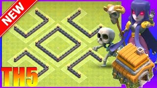 Clash of Clans || New Th5 Trophy Base (Hybrid Farming Base) - Town Hall 5 Base March 2017 || CoC