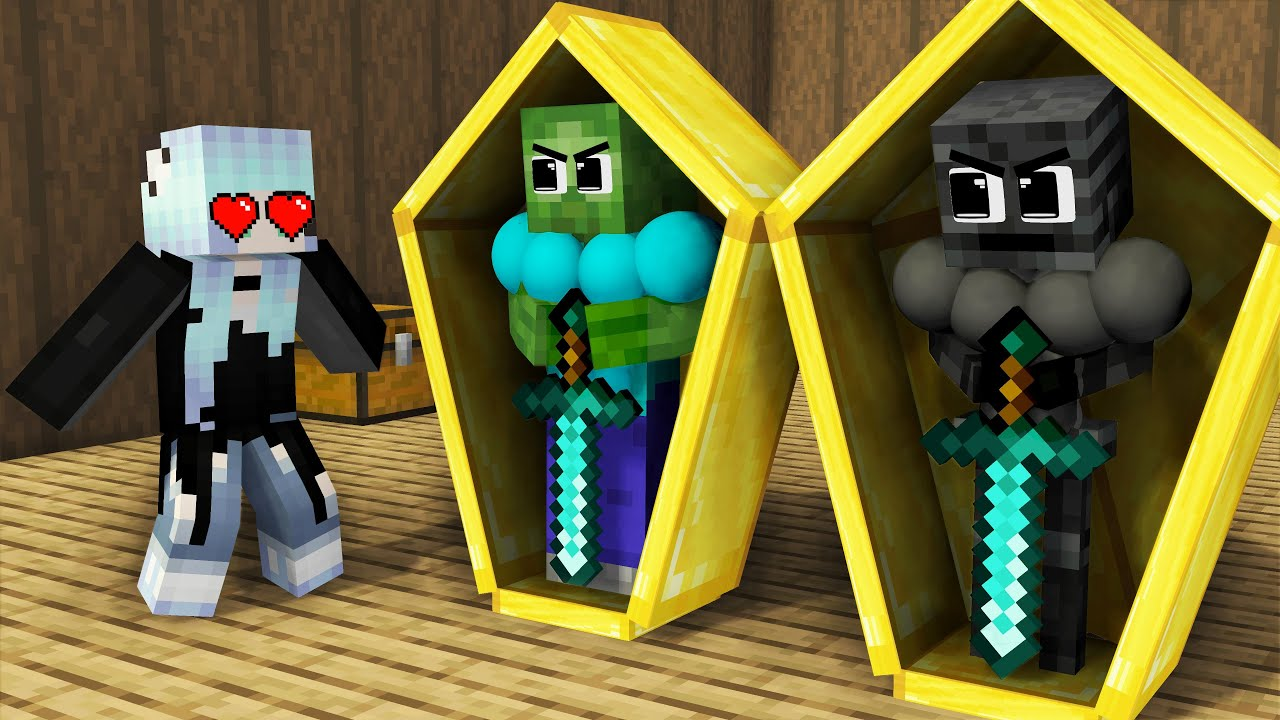Monster School : Good Brother Wither Skeleton and Baby Sister - Sad Story - Minecraft Animation