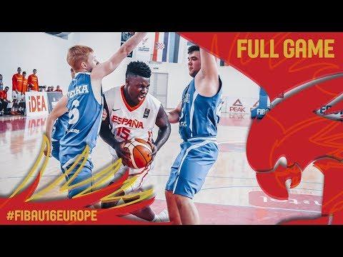 Spain v Estonia - Full Game - Round of 16 - FIBA U16 European Championship 2017