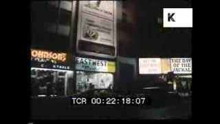 1970 Drive Through New York at Night, 1960s, 1970s, Manhattan, Archive Footage
