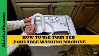 How to Use the Panda XPB36 Portable Dual Tub Washing Machine