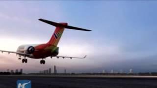 homegrown regional jet makes maiden flight