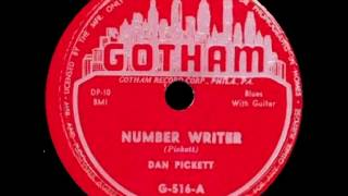 Dan Pickett - Number Writer