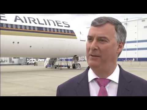 Boeing Entrega del primer 787 10 a Singapore Airlines
