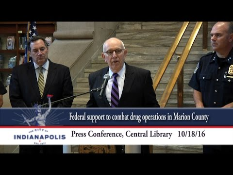 City leaders announce federal support to combat drug operations in Marion County