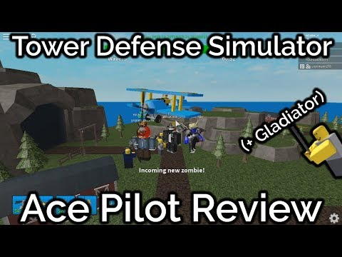 Ace Pilot Review (+Gladiator)|Tower Defense Simulator