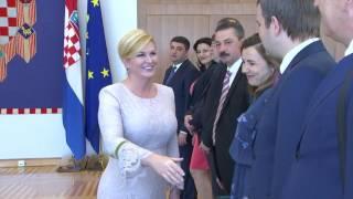 Зустріч В.Гройсмана з Президентом Хорватії  К.Грабар-Кітарович(13.06.2017)
