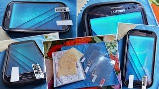 Хорошие плёнки c Aliexpress для Samsung Galaxy S3 SIII i9300 Neo Duos(Ссылка: http://goo.gl/owwGzy На видео просто распаковка посылки и примерка на экран смартфона. Качественные защитные..., 2015-03-18T19:07:08.000Z)