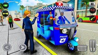 Police Tuk Tuk Auto Rickshaw Driving Game 2021 Ultra HD 4K - Police Rickshaw Game - Android Gameplay screenshot 1