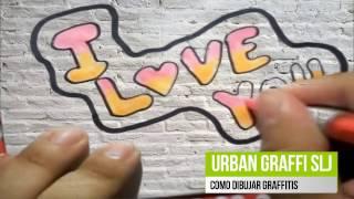 como dibujar graffitis de amor how to draw i love you como desenhar i love you