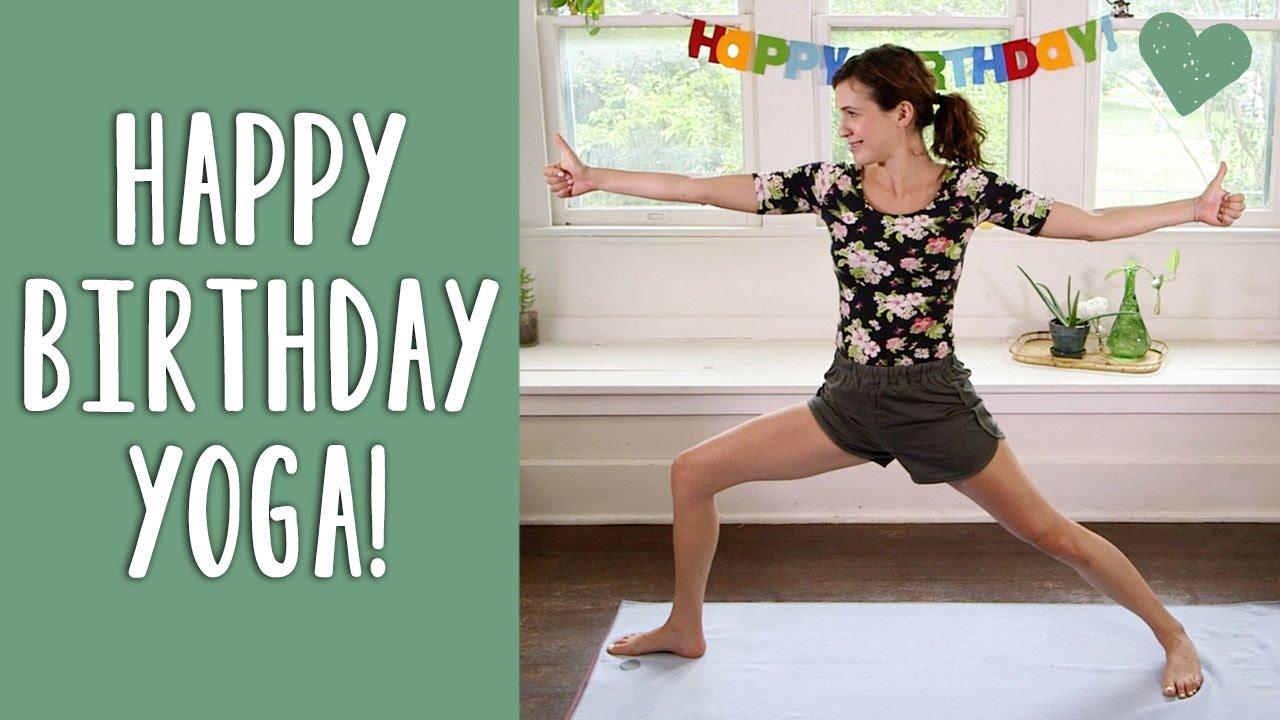 Happy Birthday Yoga Youtube