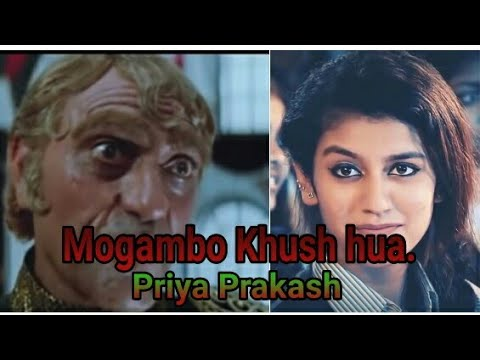 Priya Prakash with mogambo Khush hua