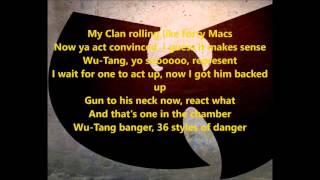 Wu-Tang Clan -  Bring Da Ruckus (lyrics)